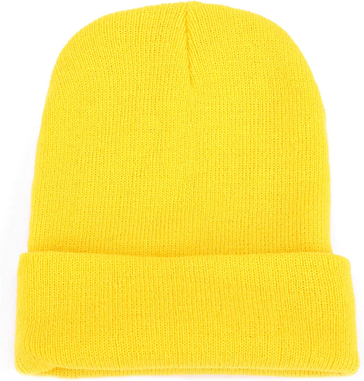 YOVONA Winter Men Beanie Hat Knit Women Warm Slouchy Skull Cap Cuff for Ski Outdoor Daily Wearing