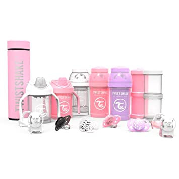 Amazon.com: Twistshake - Set de 3 botellas de bebé ...