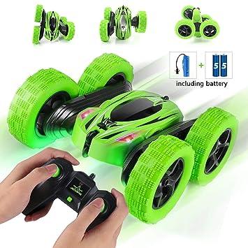 Coche de Control Remoto Stunt RC Cars para niños con Doble Cara / giros de 360 ° / 180 ° de inversión: Amazon.es: Juguetes y juegos