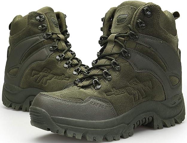 botas estilo militar verdes senderismo