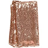 GOOTUUG 12x108inch Table Runner Decorative Table Runners Tablelcoth for Birthday Parties Weddings Baby Showers (Rose Gold)