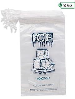 Amazon.com: Bolsas de hielo de plástico transparente con ...