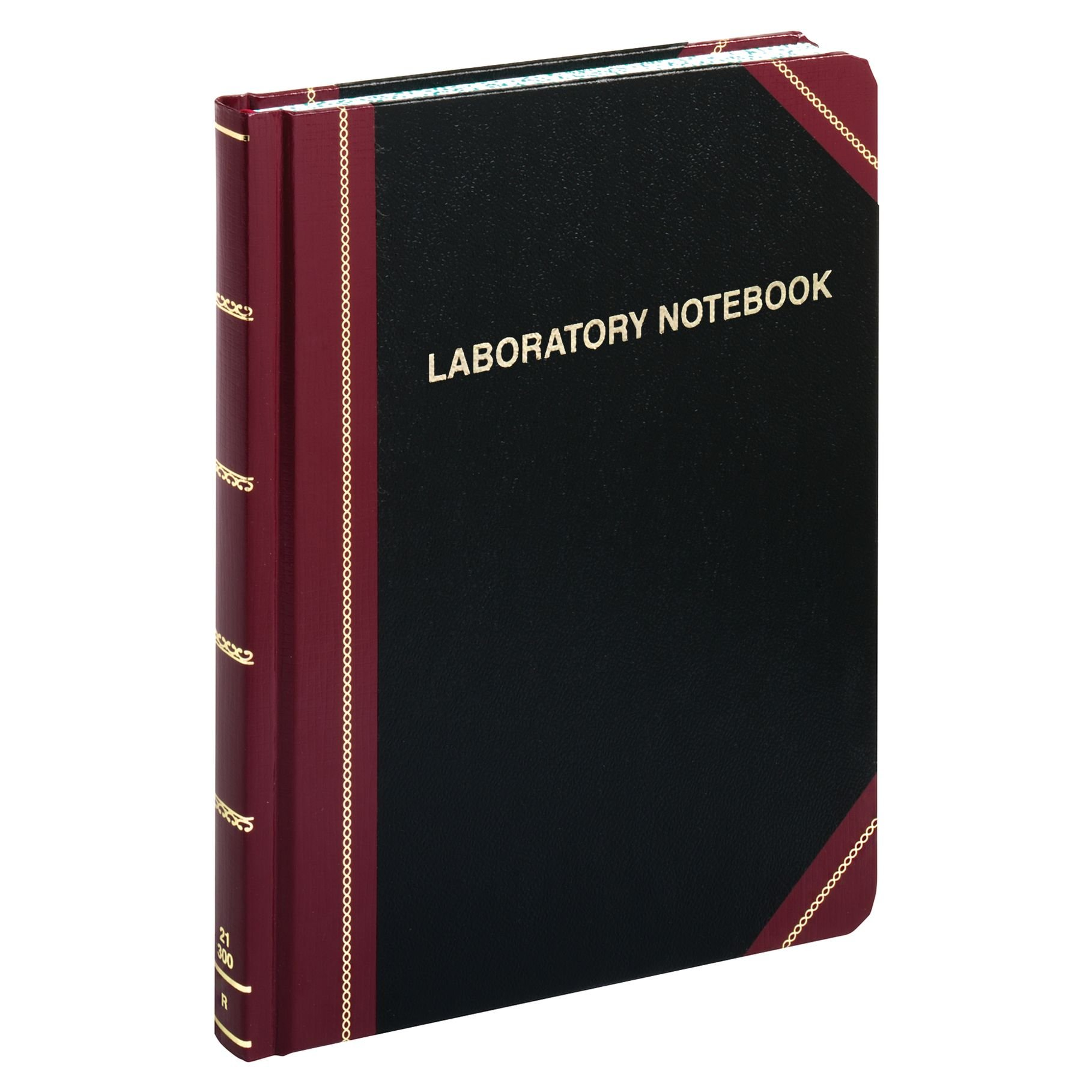 Boorum & Pease Special Laboratory Notebook, Record Ruled, Black, 300 Pages, 10-3/8'' x 8-1/8'' (L21-300-R) by Boorum & Pease