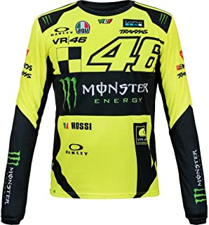 Valentino Rossi VR46 Moto GP Monster Replica Long Sleeve T-Shirt Official New
