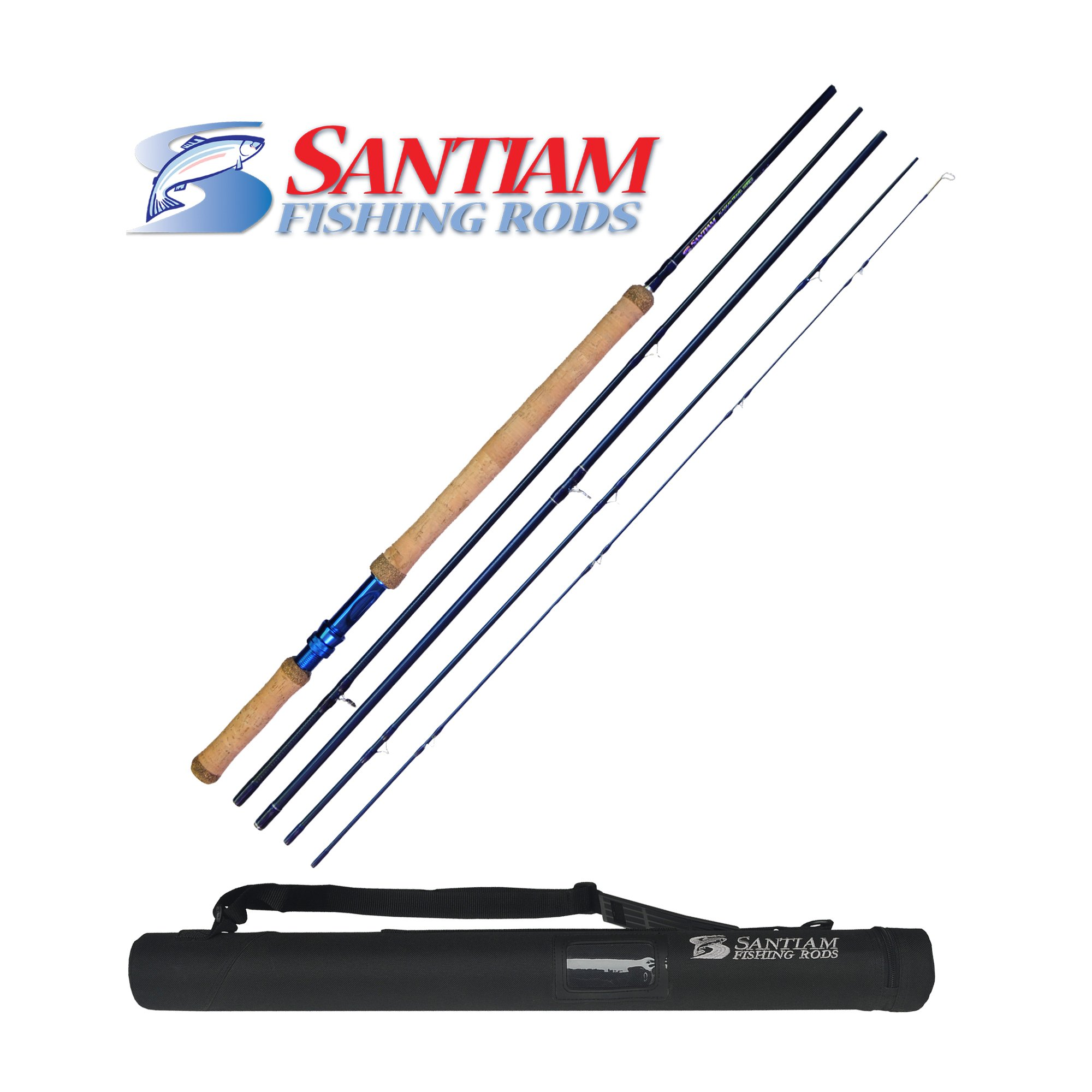 Santiam Fishing Rods 5-piece 11'2'' 8/9wt Travel Switch Rod w/Hard Case