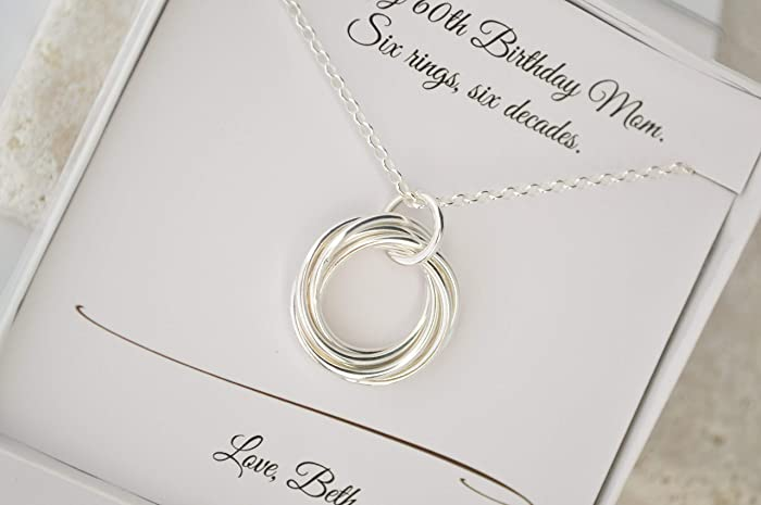 Image Unavailable. Image not available for. Color  60th Birthday necklace  ... b3ef1ae8cf4d