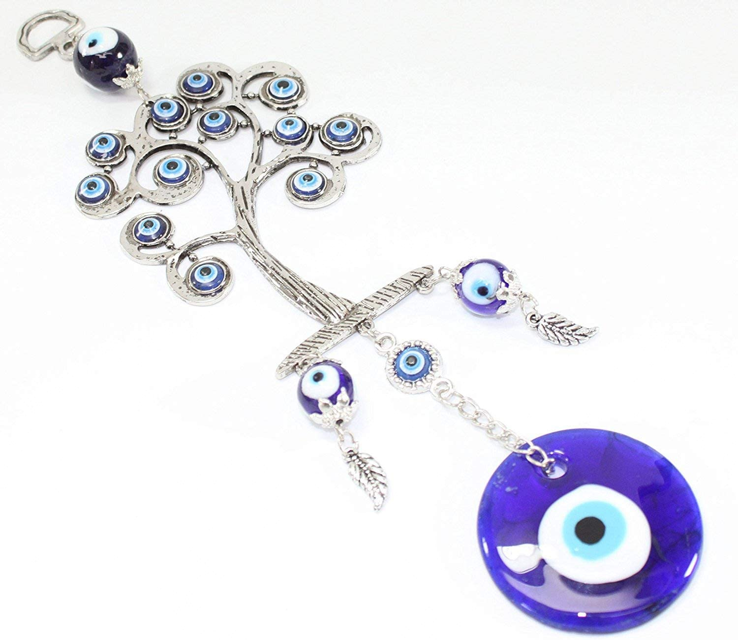 Turkish Blue Evil Eye (Nazar) Life Tree Amulet Wall Hanging Home Decor Protection Blessing Gift GP9501