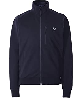 Fred Perry Mens Utility Track Jacket J5526 614 Gray at ...