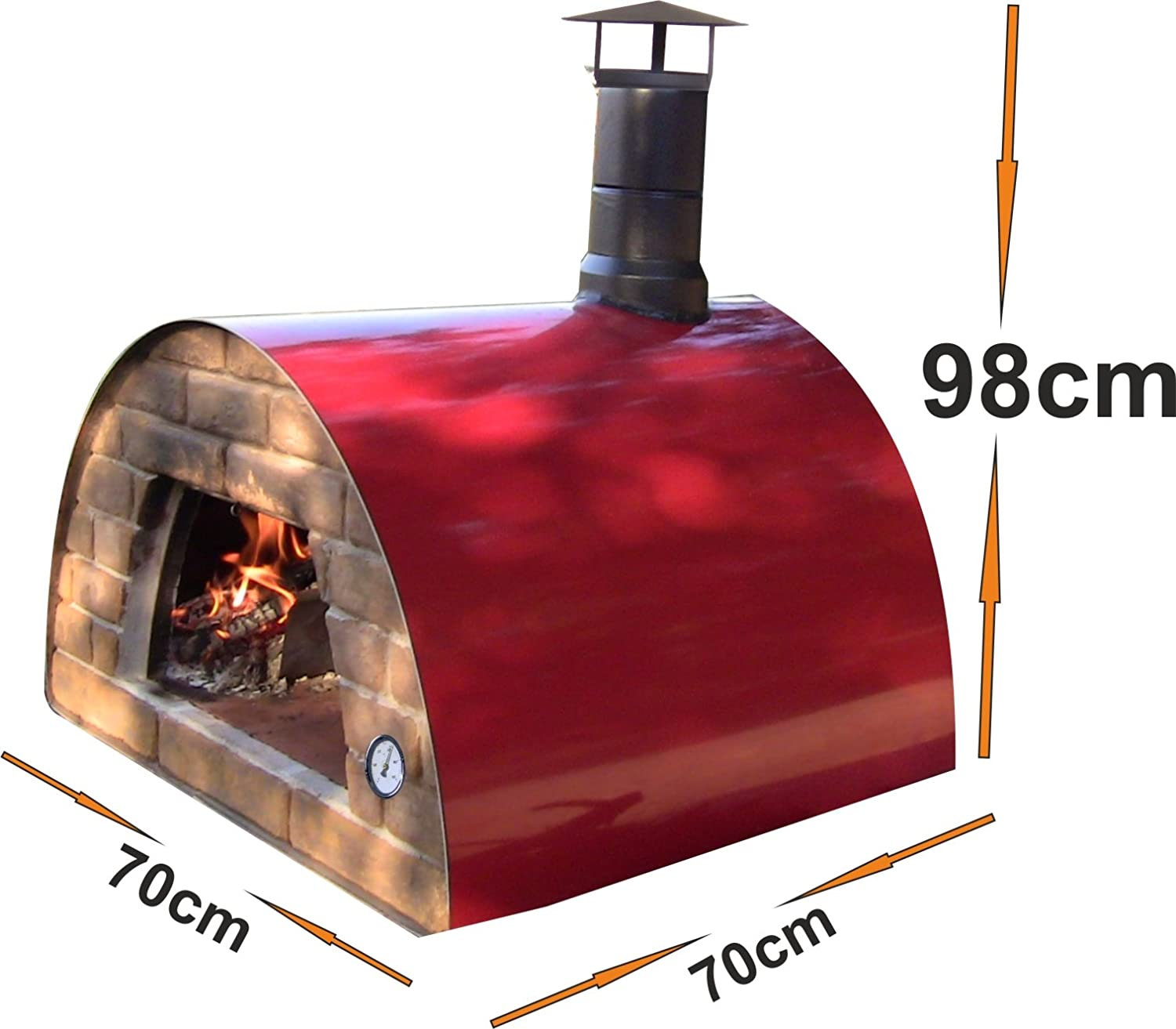 Portable wood fired pizza oven for sale - Amazon Com Mobile Portable Wood Fired Pizza Oven Maximus Red Garden Outdoor