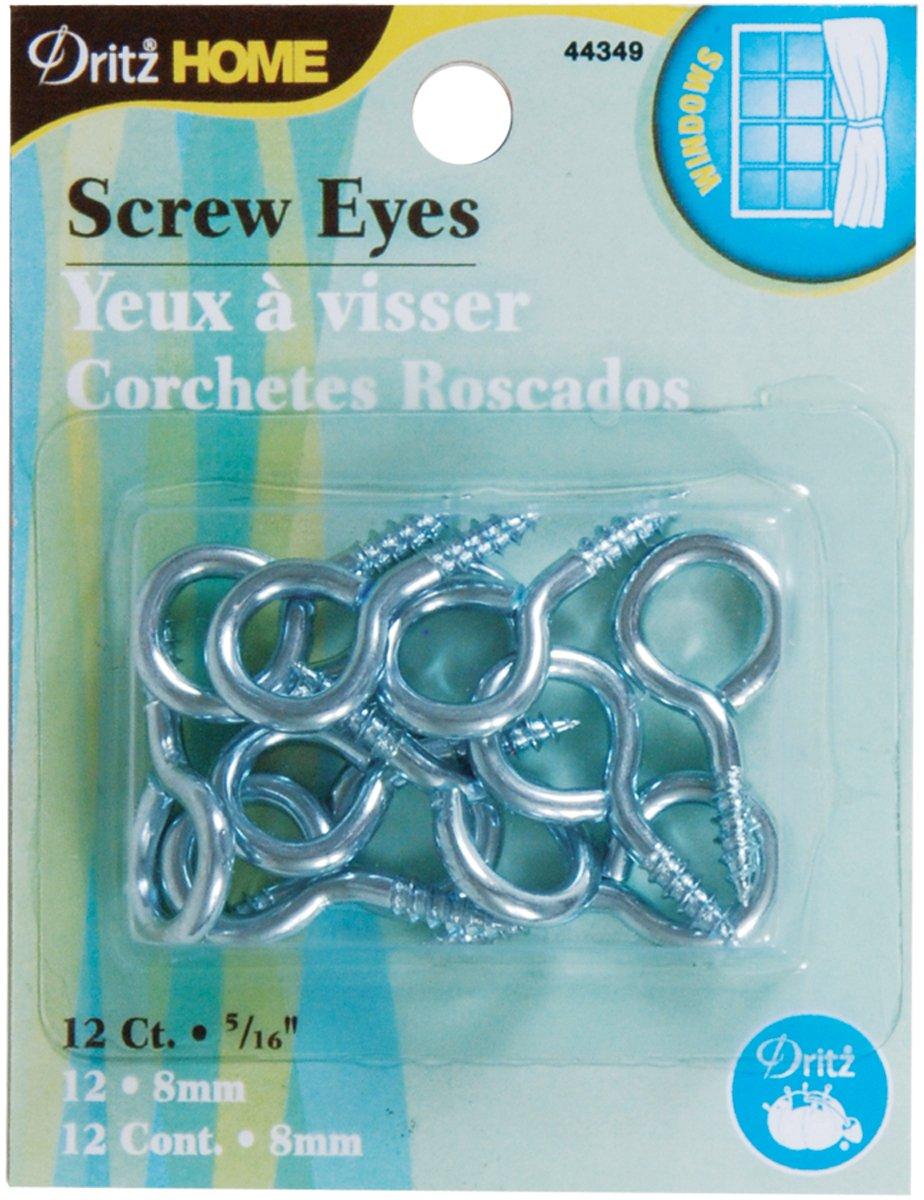 Dritz 44349 tornillo ojos, plata, 5/16-inch, 12 unidades: Amazon.es: Hogar