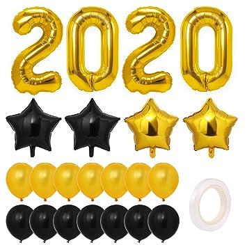 2020 Graduation Party Supplies.Toyvian 2020 Balloons Decorations Gold Graduation Party Supplies 2020 New Years Eve Balloons Kit Large Balloons Foil Balloon Latex Balloons