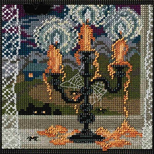 Mill Hill Midnight Glow Beaded Counted Cross Stitch Halloween Kit 2018 Buttons & Beads Autumn MH141826]()