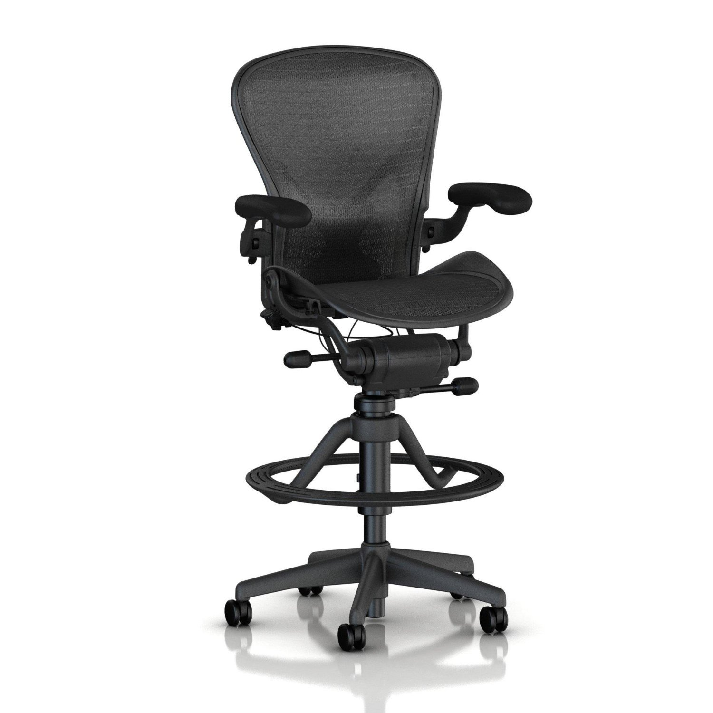 amazon com herman miller classic aeron work stool highly adj w