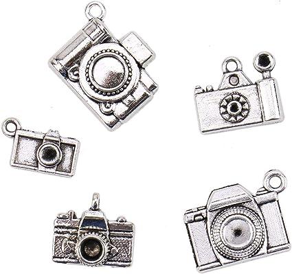 50pcs Gold Metal Hollow Heart Pendant DIY Necklace Pendant Earring Findings