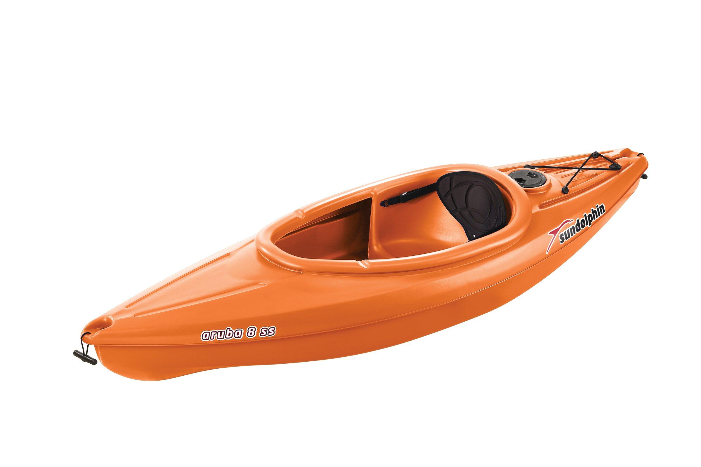 SUNDOLPHIN Sun Dolphin Aruba SS Sit-in Kayak (Tangerine, 8-Feet) by SUNDOLPHIN