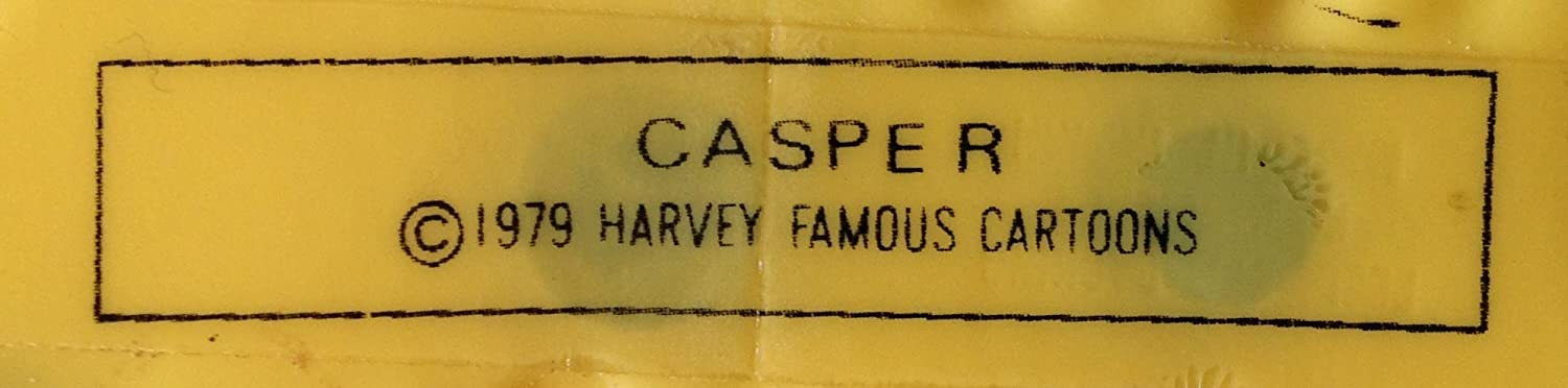 1979 Casper The Friendly Ghost Playing Baseball Harvey Famous Cartoons 3 1//4 Wide Puffy Magnet
