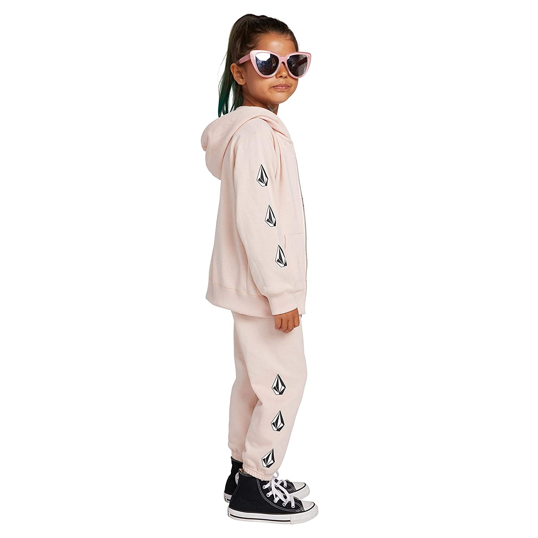 Volcom Womens Little Girls Zippety Hoooded Zip Up Sweatshirt
