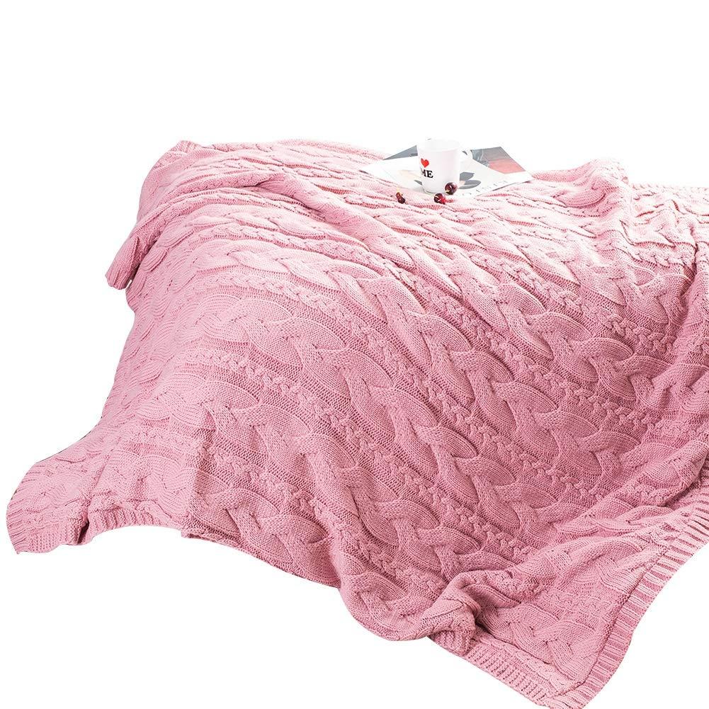 OWNFSKNL ふわふわのぬいぐるみシェパでベッドに寝心地の良い暖かい毛布を入れたスーパーソフトカシミアの毛布 (Color : Powder) B07MYMH96Z Powder