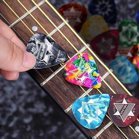 Juego de 16 púas para guitarra acústica, guitarra eléctrica ...