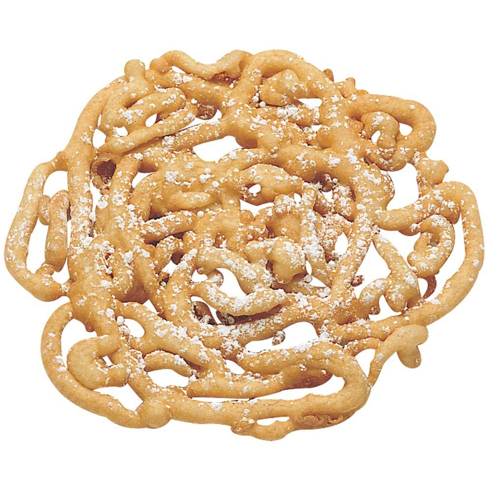 J and J Snack Cake Factory Funnel Cake - 5 inch, 48 per case.