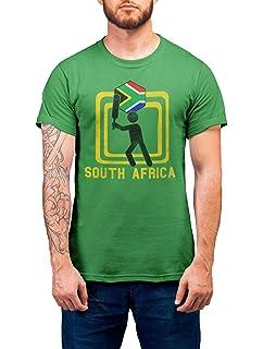 SOUTH AFRICA Patriotic Retro Strip T-Shirt *Choice Of MENS LADIES KIDS BABY GROW
