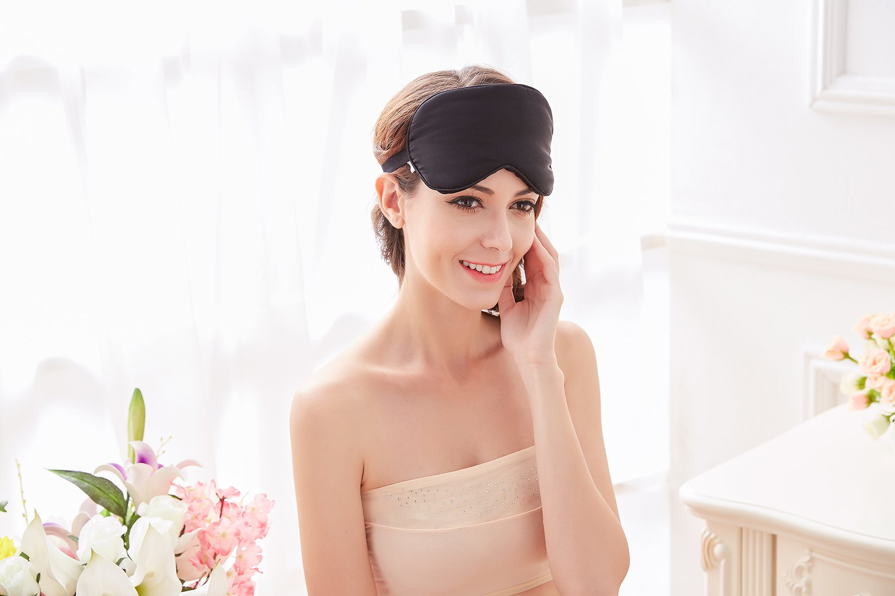 Natural Silk Sleep Mask & Blindfold - Lifetime Guarantee - Super Smooth Eye Mask for Men & Women & Kids - Your Best Travel Sleeping Helper - Include FREE Ear Plugs by Babo Care (Image #7)