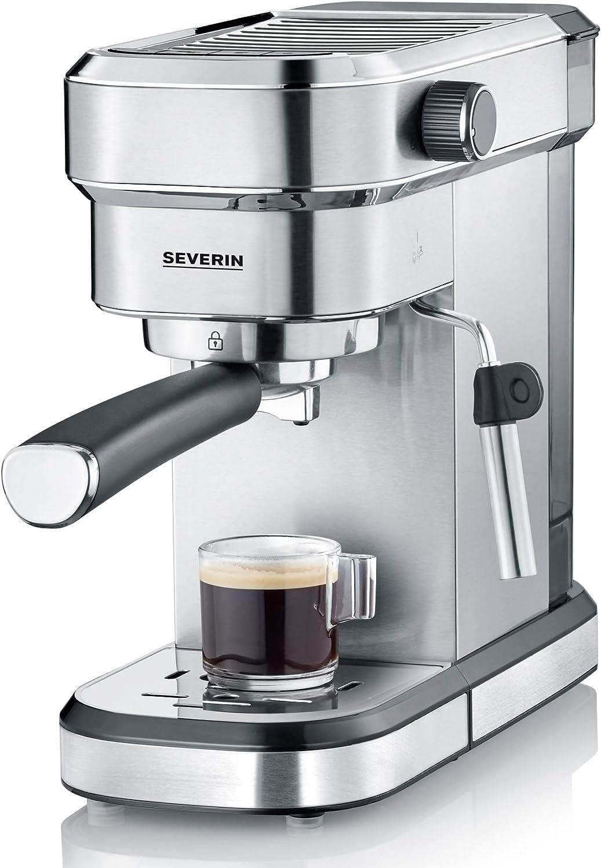 Severin KA 5994 Espresa - Cafetera espresso, 1350 W, 1.1 L, acero inoxidable cepillado, función descalcificación, color plata: Amazon.es: Hogar