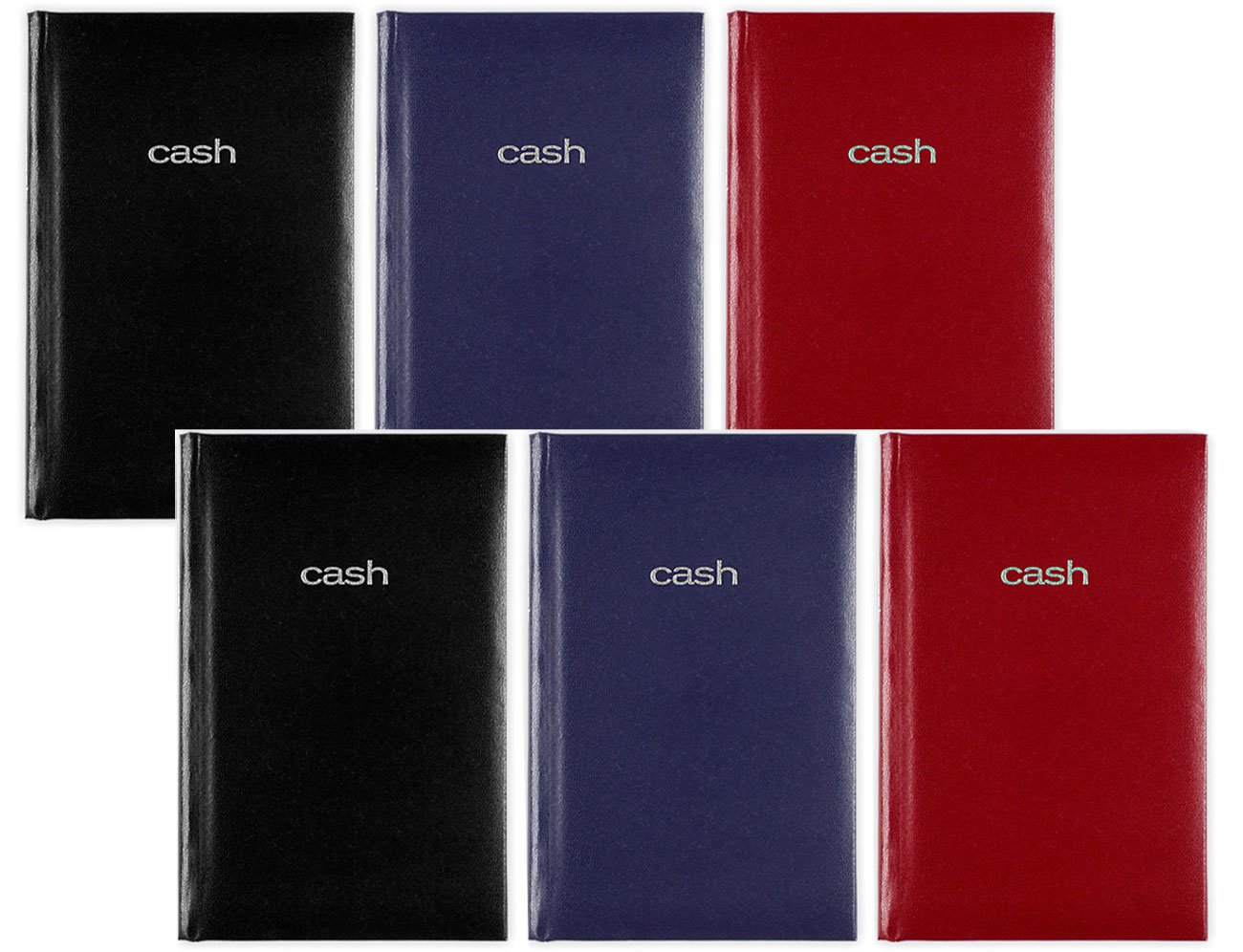 Mead Cash Book, 5'' x 7 15/16 inches, Hardbound, 144 pages, Assorted Colors, 6 Pack by Mead