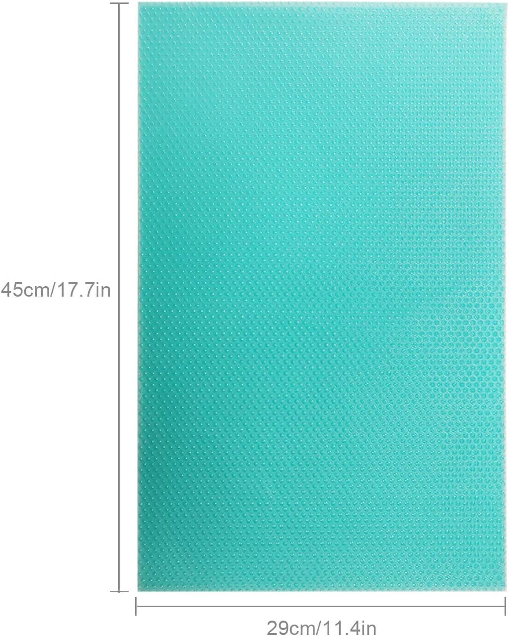 Blue Shoze Refrigerator Pad Non Slip Fridge Mat Table Mat Drawer Mat Cupboard Mat Washable Antibacterial Washable DIY,29x45cm