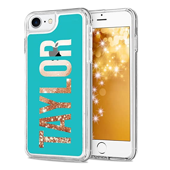 big sale d0307 3b778 True Color Custom Case Compatible with iPhone 7 Plus or iPhone 8 Plus (5.5  inch Large) Personalized Name Liquid Glitter Waterfall Iridescent Flow ...