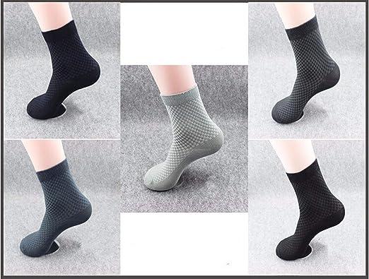 Amazon.com: 5Pair Mens Bamboo Socks Male Business Men Socks Hombre Sock,Black: Clothing
