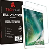 """TECHGEAR® Apple iPad Pro 12.9"""" GLASS Edition Genuine Tempered Glass Screen Protector Guard Cover (Fits new 2017 and 2015 iPad Pro 12.9"""" screen)"""