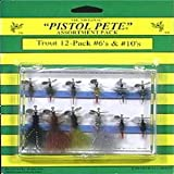 Pistol Pete Hi-Country Fishing Flies, Size 6/10, Assorted