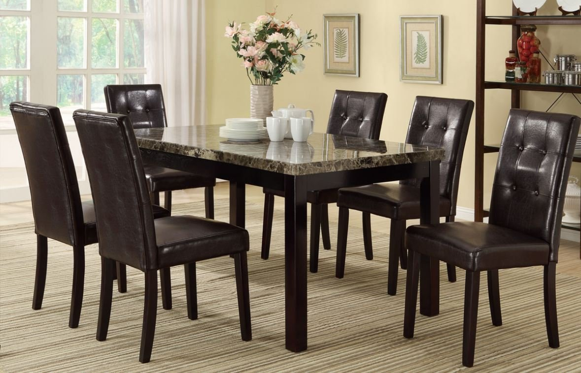 & Amazon.com - 7 Piece Casual Dining Set By Poundex - Table u0026 Chair Sets