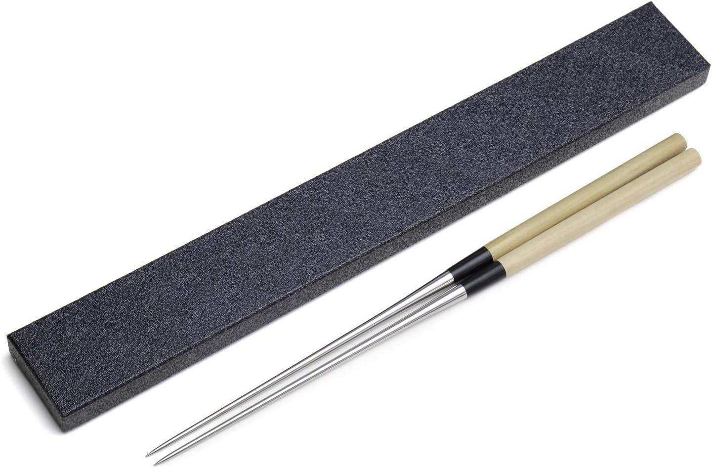 Yoshihiro Moribashi Chopsticks Japanese Sushi Chefs Traditional Garnishing Plating Tweezers Magnolia Handle 6.5 In 165mm