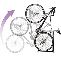 Bike Nook Portable and Stationary Space Saving Bicycle Stand Bike Rack with Adjustable Height, for Indoor Bike Storage