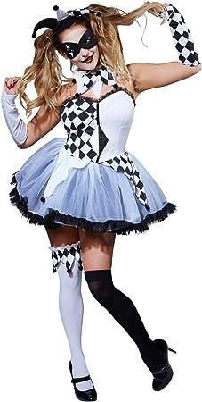 Rubies s Oficial Ladies jesterlla Halloween Disfraz de Circo ...