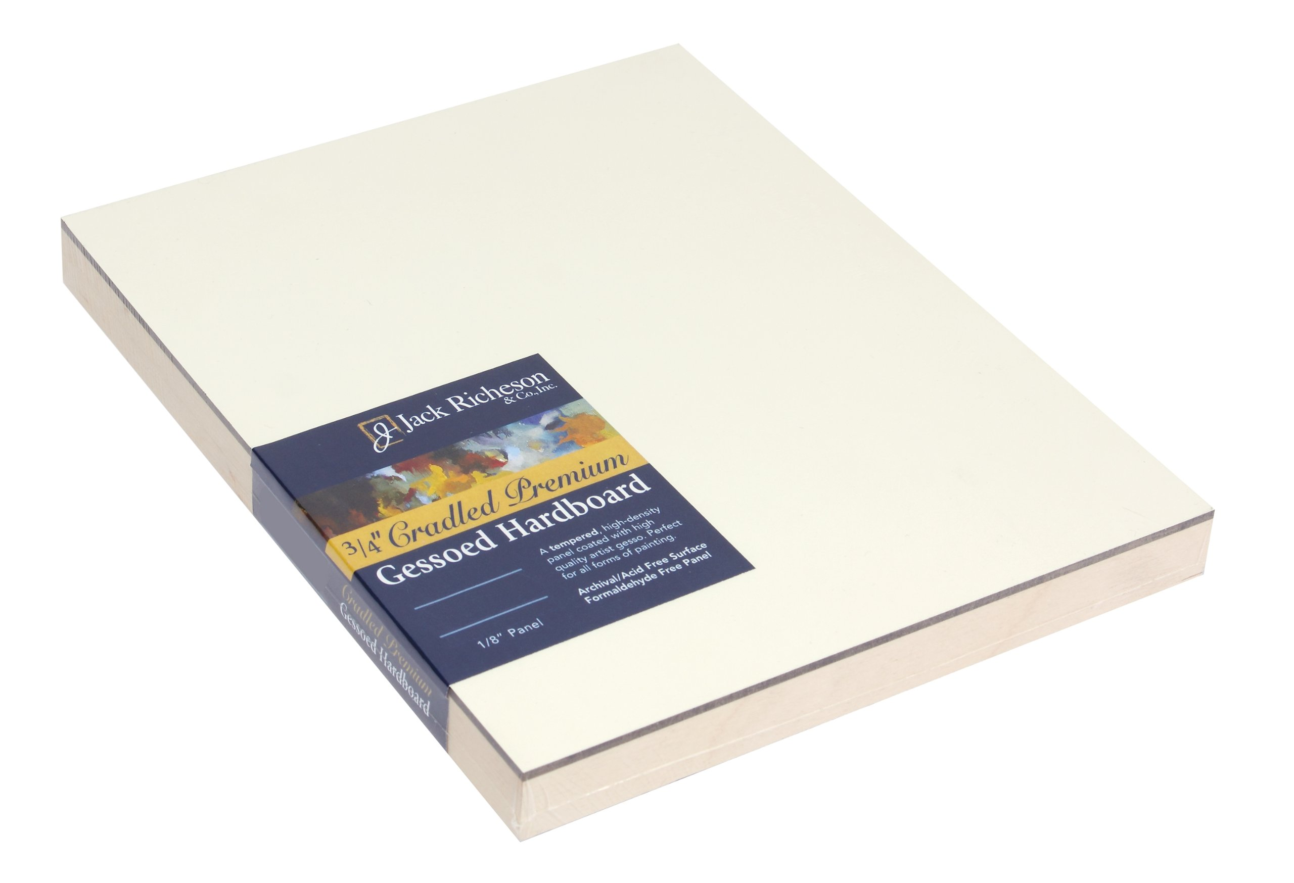 Jack Richeson 3/4-Inch Premium Tempered Gessoed Hardboard Panel, 6-Inch by 6-Inch