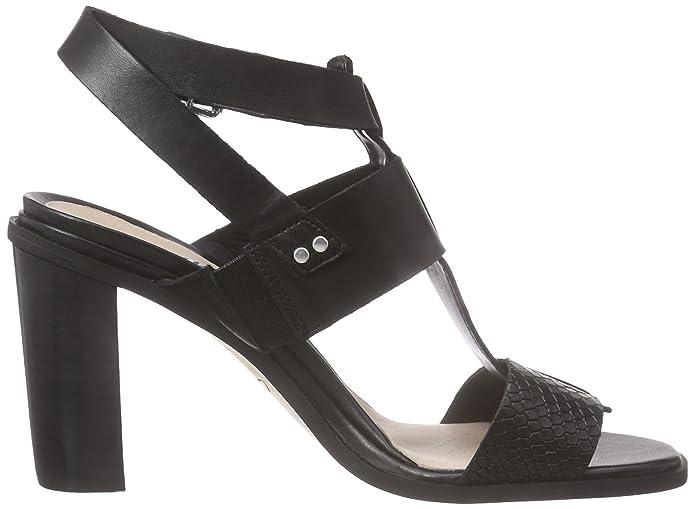 5 Donna Sandali ClarksImage Black Leather Nero Crush 39 ZpwF0qUW