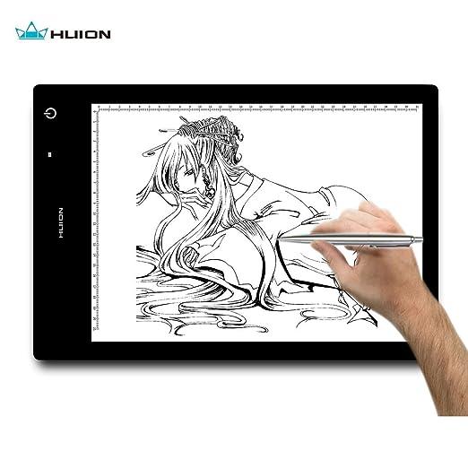 180 opinioni per Huion® LB4 Tavoletta luminosa ricaricabile 40x27cm con luminosità regolabile e