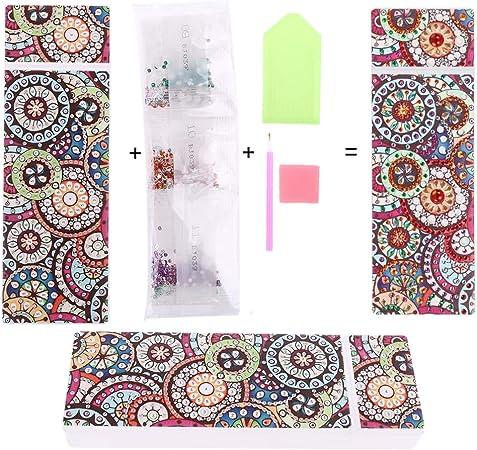 RUINAIER 5D DIY - Estuche bordado con diseño de mandala y diamantes: Amazon.es: Hogar
