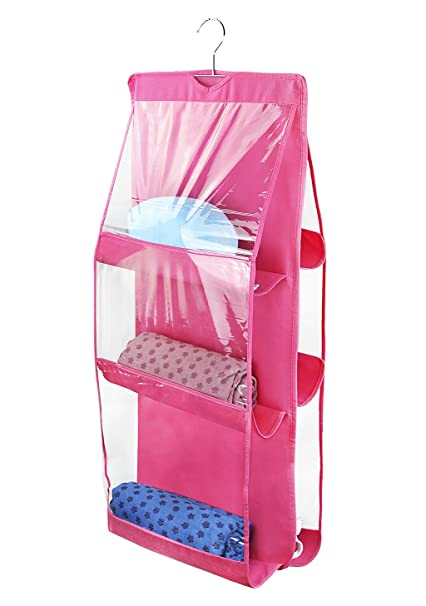 Functional Bags Double-sided Wardrobe Storage Bag Transparent Pvc Wall Hanging Multi-layer Dustproof Pouches