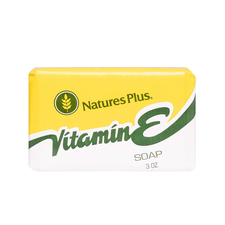 NaturesPlus Vitamin E Soap - 3 oz Bar - 100% Natural Ingredients, 1000 iu Vitamin E, Glycern Soap - Detergent-Free, Biodegradable