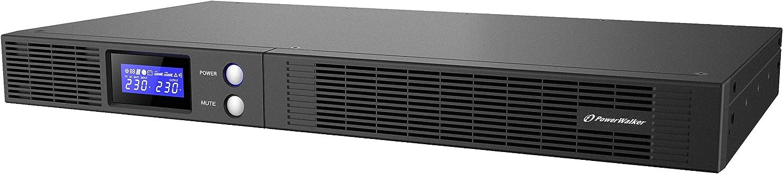 500 VA, 300 W, 165 V, 290 V, 230 V, 230 V UPS Fuente de alimentaci/ón Continua PowerWalker Vi 500 R1U Sistema de alimentaci/ón ininterrumpida UPS 500 VA 4 Salidas AC L/ínea interactiva