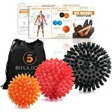 5BILLION Massage Balls - Lacrosse Balls, Massage Tennis Balls, Stress Balls - Deep Tissue Massage Tool for Myofascial…