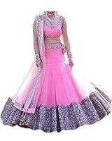Devani Brothers lehenga choli for women (Lehenga_Free_Size _Pink_Colour)