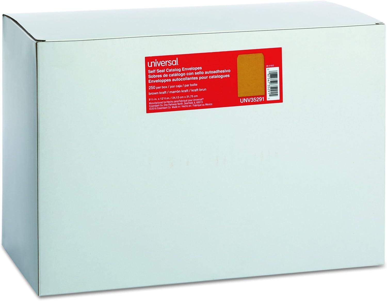 6 x 9 White Universal 42100 Self Seal Catalog Envelope 100//Box