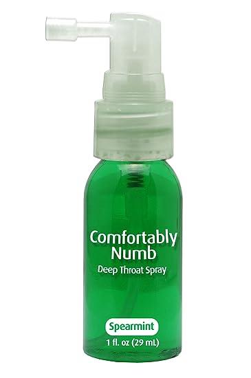 Numbing when deep throat