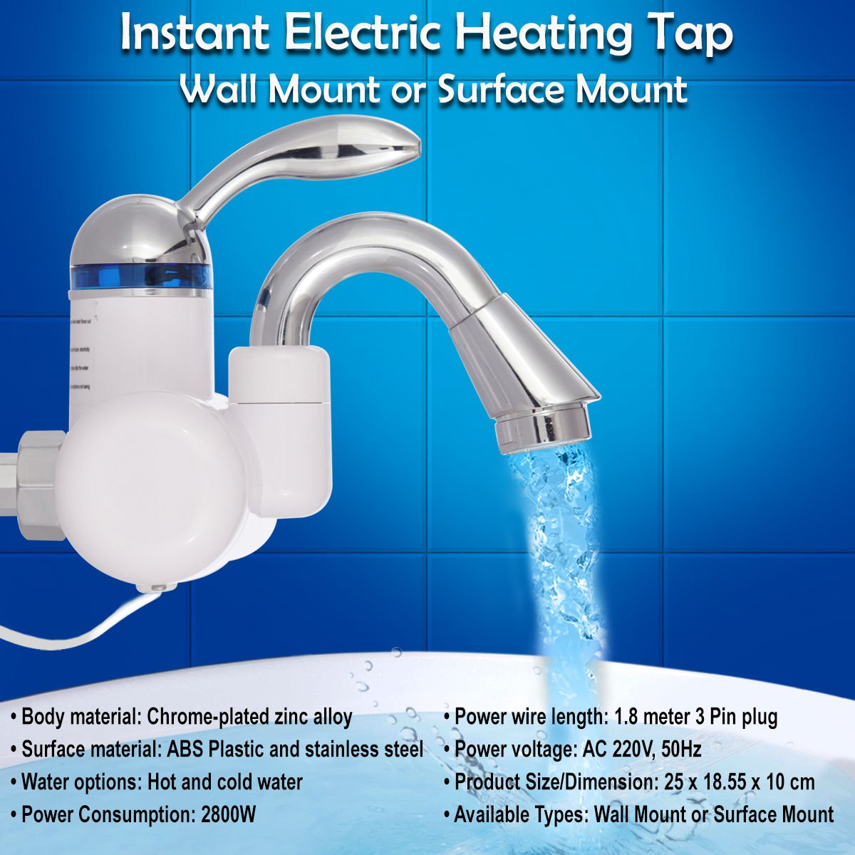 Buy Tna Instant Electric Heating Tap Wall Mount Online at Low Prices ...