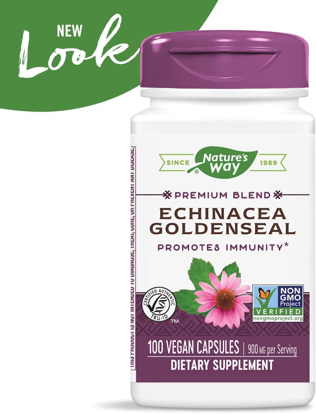 Amazon Com Nature S Way Echinacea Goldenseal 450 Mg 100 Vcaps